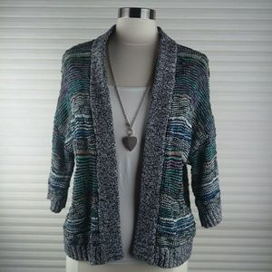 UO Cooperative Open Multicolor Knit Cardigan S